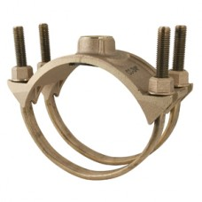 """10"""" Double Strap Brass Saddle With 1 1/2"""" CC Tap"""