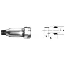 "1 1/2"" Galvanized Adapter"