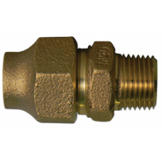 """3/4"""" COPPER FLARE X 3/4"""" MALE NATIONAL PIPE THREAD COUPLING NO LEAD"""