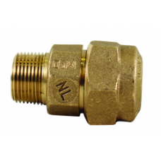 "1 1/2"" Pack Joint For CTS X 1 1/2"" Male National Pipe Thread Q Style Compression Coupling No Lead"