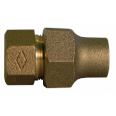 """3/4"""" COPPER FLARE X 3/4"""" FEMALE NATIONAL PIPE THREAD ADAPTER NO LEAD"""