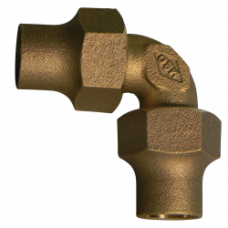 """3/4"""" Flare X 3/4"""" Flare Quarter Bend Coupling No Lead"""