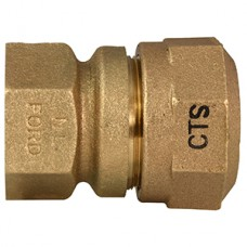 "1 1/2"" Female Copper Thread X 1 1/2"" CTS Q Style Coupling No Lead"