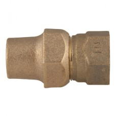 "3/4"" Flare Copper X 3/4"" Female Iron Pipe Straight Coupling No Lead"