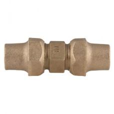"""1 1/2"""" Flare Copper X 1 1/2"""" Flare Copper Straight 3 Part Union No Lead"""