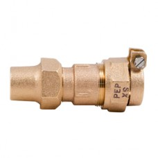 """1"""" Flare Copper X 1"""" Pack Joint For Polyethylne Pipe Adapter No Lead"""
