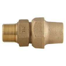 """3/4"""" Flare Copper X 3/4"""" Male Iron Pipe Straight Coupling No Lead"""