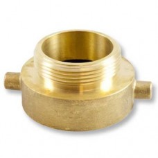 "2-1/2"" NST FEMALE THREAD X 2"" MALE IRON PIPE BRASS HYDRANT ADAPTER"