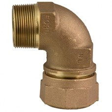 """3/4"""" Quick Joint For CTS X 3/4"""" Male Iron Pipe 90 Degree Bend Coupling No Lead"""