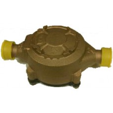 "5/8"" X 3/4"" BADGER MODEL 25 WATER METER BASE ONLY NSF61 BRONZE BODY CAST IRON BOTTOM REMANUFACTURED"